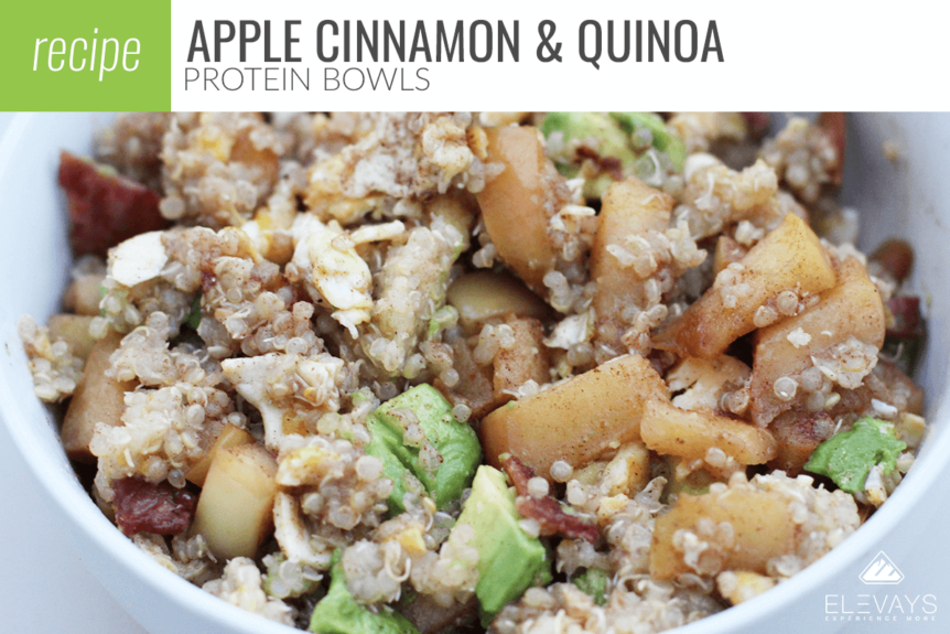 Apple Cinnamon Quinoa Protein Bowls