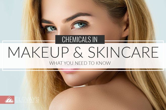 Discover the top chemicals in makeup & skincare to remove unnecessary exposure to toxins so you can have for better health and more radiant skin. #skincare #organicbeauty #chemicalfree #toxinfree #chemicals