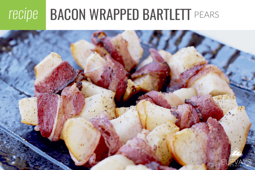 Bacon Wrapped Bartlett Pears