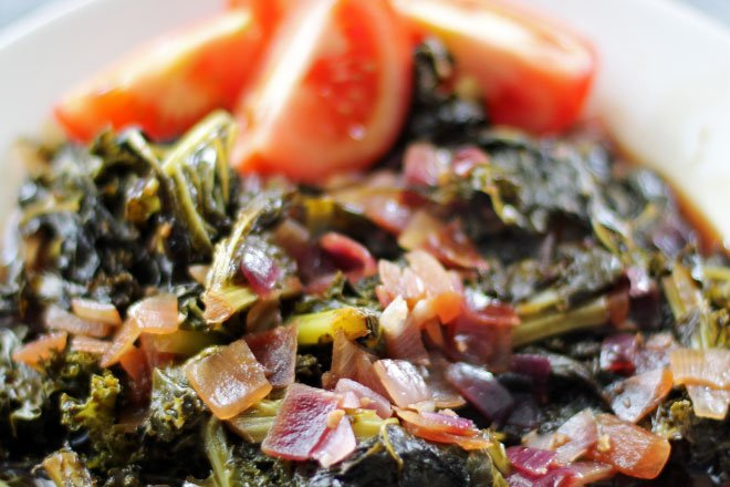 Sauteed Kale with Balsamic Vinegar