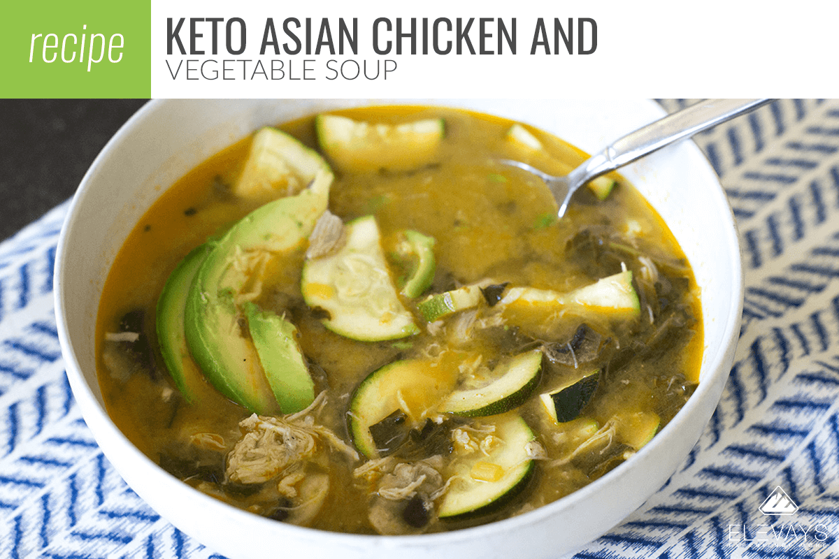 Keto Asian Chicken Vegetable Soup