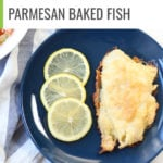This quick and easy sheet pan parmesan battered fish recipe is going to be a new healthy family favorite. #healthyrecipe #easydinner #quickmeal #fish