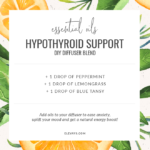 Diffuser Blend for Hypothyroid Support - Boost Energy & Uplift Your Mood